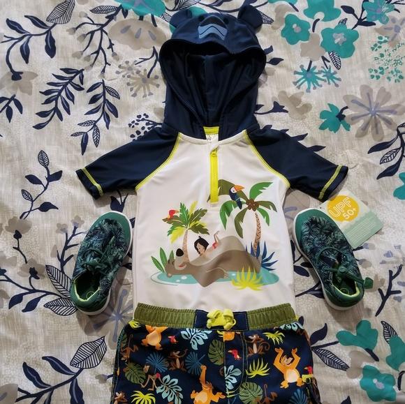 Disney Other - Disney Jungle Book Toddler Swimsuit Set